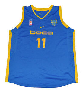 129068e3f83 Image is loading Boca-Junior-Basketball-jersey-NIKE-player-used-XXL-