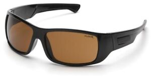 Pyramex-Furix-Safety-Glasses-Black-Frame-Coffee-Anti-Fog-Lens-ANSI-Z87