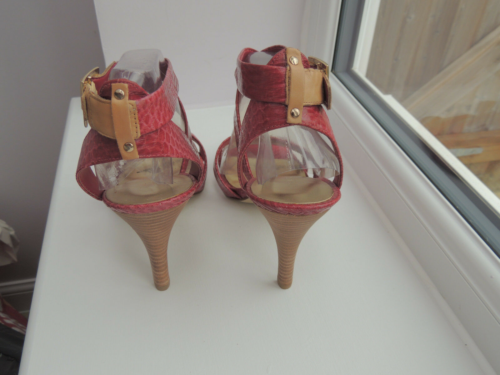 Nine West dark Rosa strappy high heel Sandals Größe Größe Größe 40 BNIB 9f4fab