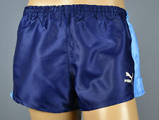 Puma Glanz Nylon Shorts!!!  Vintage Short Sporthose Blau-Gr.:L-6        (1337)