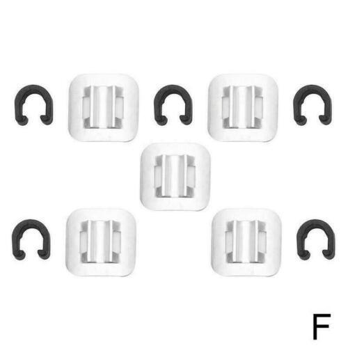 5PCS Bicycle Brake Cable Fixed Clamp Conversion Seat Oil Frame Kit MTB Bike F8J7