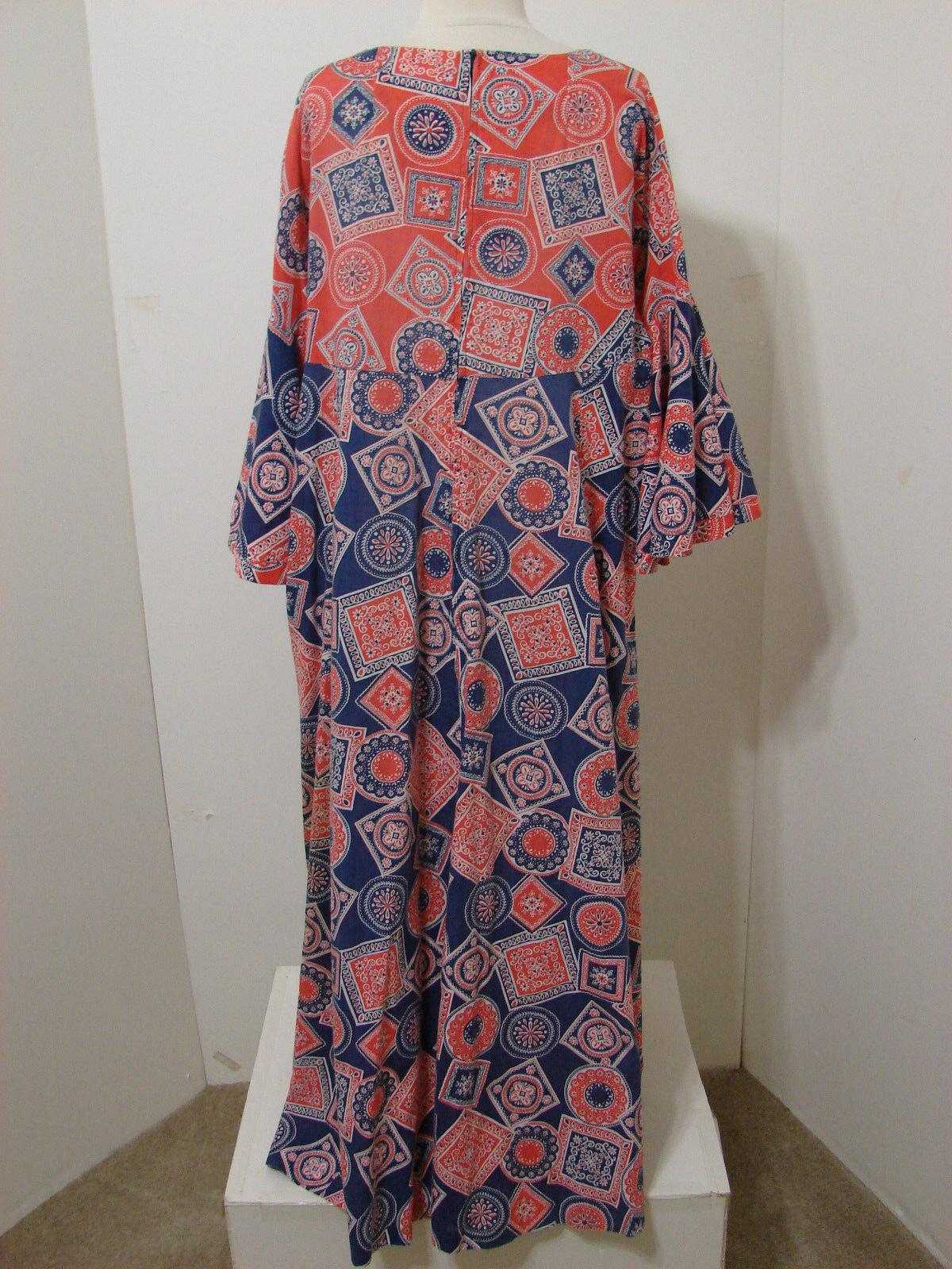PEGGY LOU Caftan Dress Vintage 1960's Groovy Patc… - image 7