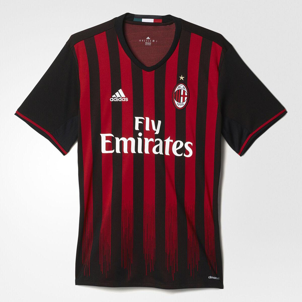 Adidas AC Milan Home Replica Jersey NEW men AP7964 schwarz Weiß rot bordo