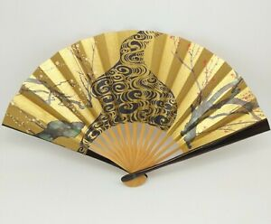 Folding-Fan-Sensu-Japanese-Vintage-design-039-Cattle-horn-039-Novelty-H0015