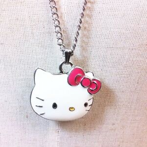 Sanrio hello kitty pendant long necklace girls kids womens gift image is loading sanrio hello kitty pendant long necklace girls kids aloadofball Image collections