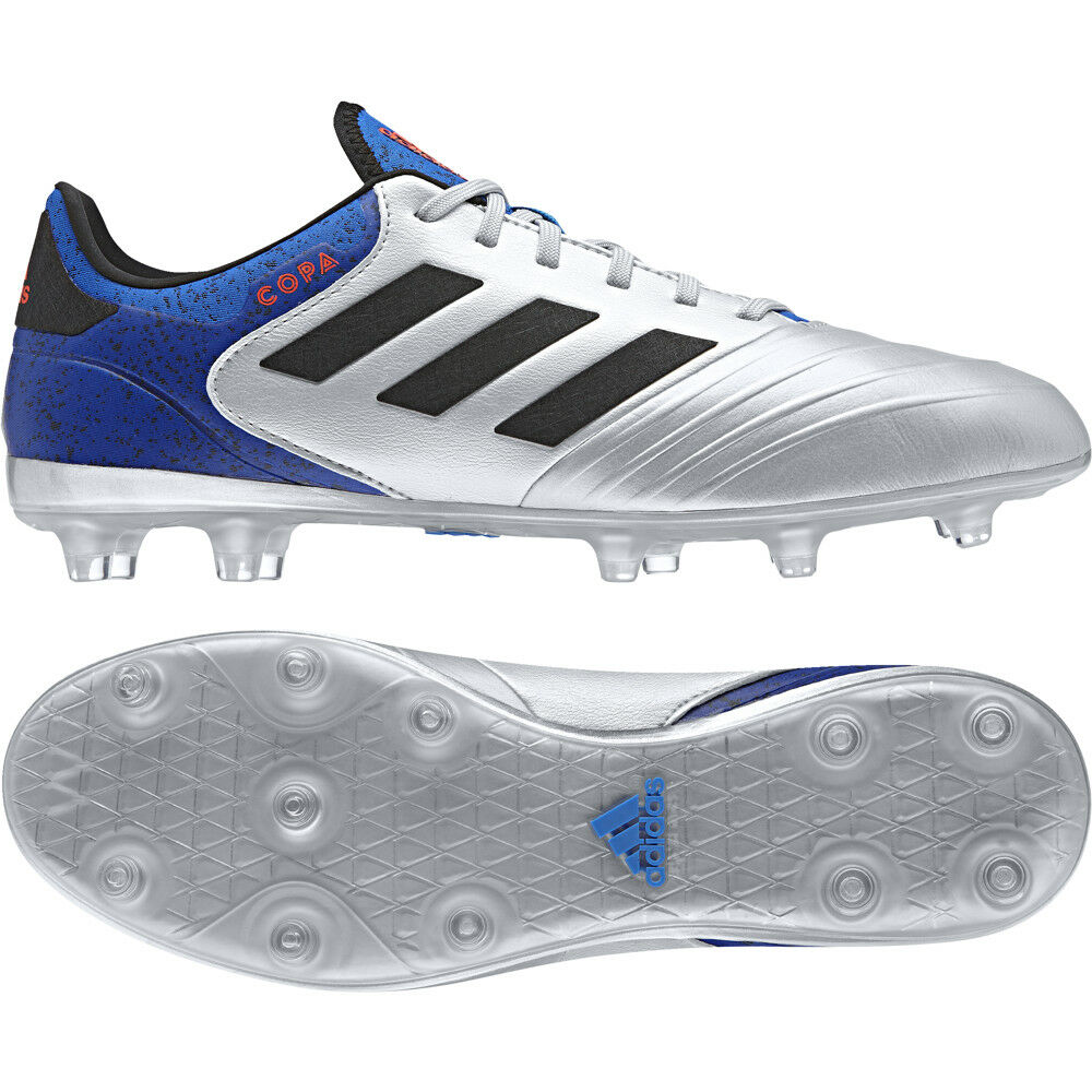 Adidas Copa 18.2 FG botas de fútbol Mettalic DB2443 plata de tamaño de Reino Unido 7 - 11