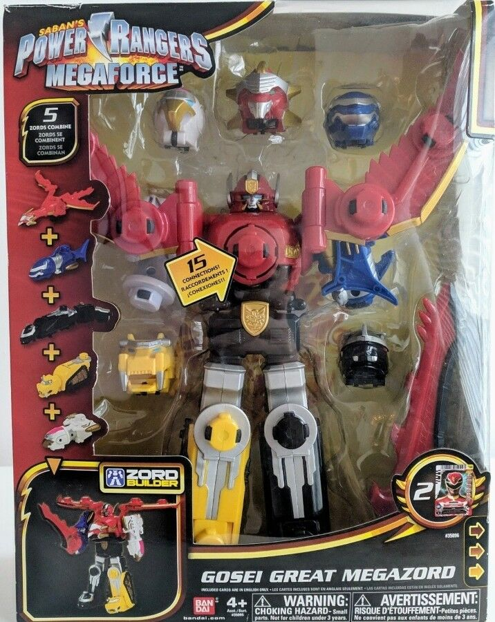 Power Rangers Megaforce Great gosei MegaZord ZORD BUILDER 5 ZORDS combiner