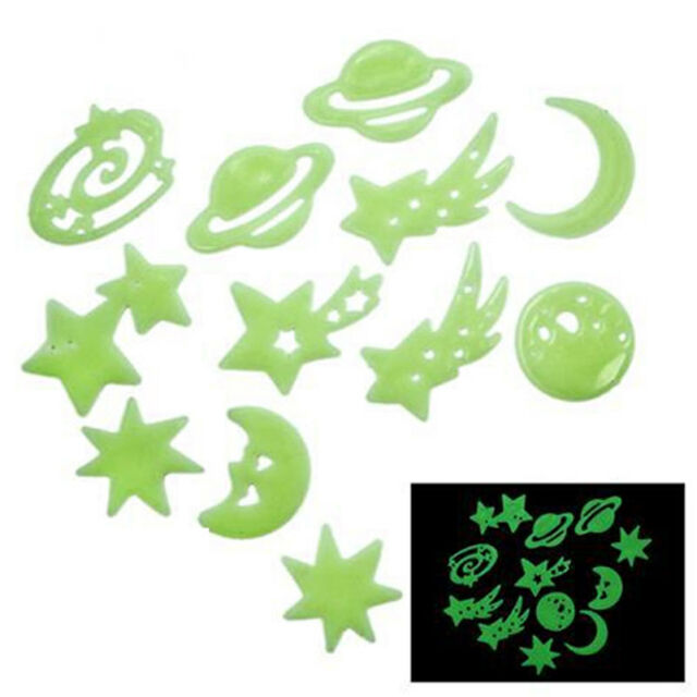 Lovely Cosmos Stars Glow In The Dark Stickers Kid's Bedroom Room Wall Decor KQ