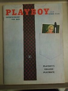 Playboy-September-1958-Very-Good-Condition-Free-Shipping-USA