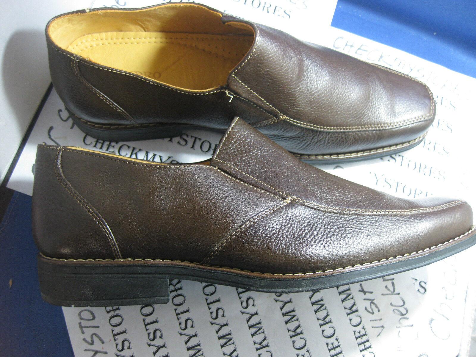 nouveau in Box nouveau SANDRO Limited  HILL  à Enfiler Cuir Décontracté   chaussures confort marron