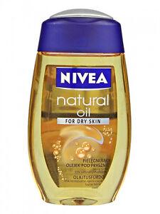 Nivea Natural Oil Shower Gel For Dry Skin Body Wash 200ml