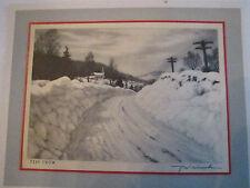 """R. W. WOICESKE """"DEEP SNOW"""" GREETING CARD NO. 15102 -  TUB Q"""