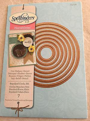 S4-125 New Spellbinder Nestabilities Dies Scalloped Circles Small 6 Templates