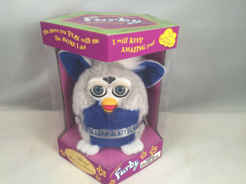 LAST ONE Special Millennium Edition Furby Gray /& Blue Discount for Damaged Box