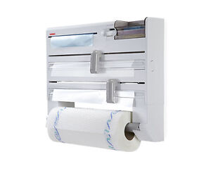 Portarrollos x6 de pared leifheit aluminio film papel - Portarrollos papel cocina ...