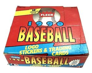 Baseball-Fleer-1990-Logo-Stickers-and-Trading-Cards-10th-Aniversary-Edition
