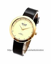 Omax Unisex Gold Dial Watch, Gold Finish, Seiko (Japan) Movt. RRP £49.99