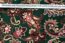 JOANN STORES shimmering PAISLEY 43 x 36 piece fabric cotton Quilting paisley #13