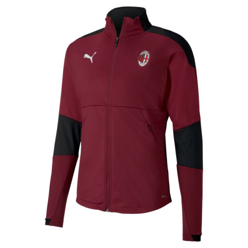 AC MILAN TRAINING SPORTS Football Training Jacket-Borgogna