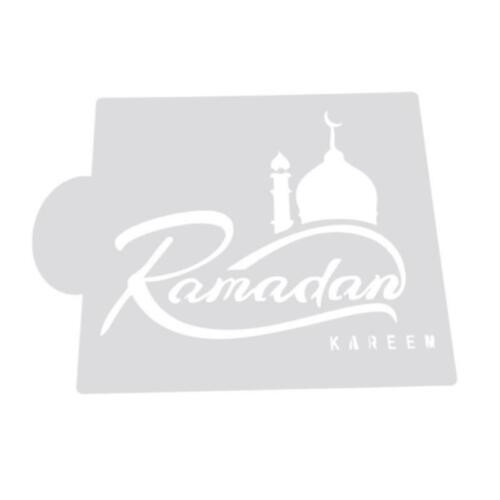 Moschee Eid Mubarak Ramadan Design Kaffee Schablonen Cookie Dekor Werkzeug