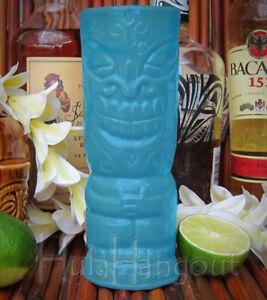 Hawaiian Tiki Mug Lucky. Brand New. Free Shipping cocktail bar Light Blue