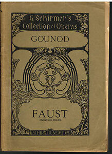 Details about Faust Lyric Drama in Five Acts by Charles Gounod Operas Early  1900's Music!