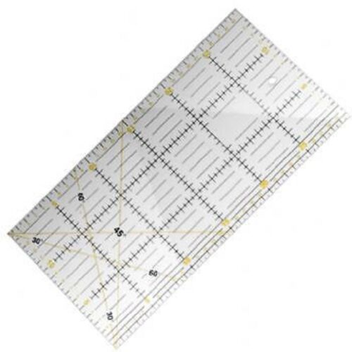"""WITH 2 COLOR PRINT HIGH CLEARANCE ACRYLIC QUILT RULER,6.5/""""x12/""""X 3mm THICKNESS"""