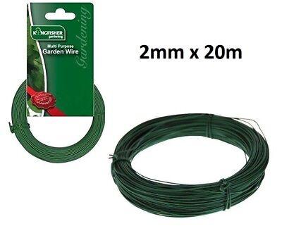 Kingfisher GARDEN fil enduit de plastique 2 mm x 20 m Plante//Arbre Support tout usage