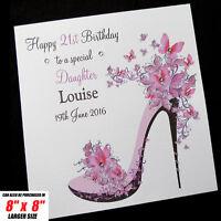 "Personalised 6"" sq Birthday Card Mum Sister Daughter Friend Auntie Niece Nan"