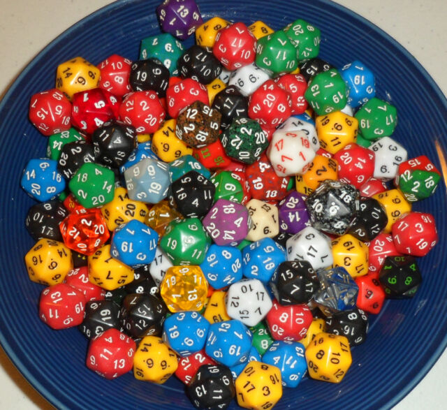 d20 20-sided dice lot of 6 for mtg Magic the Gathering