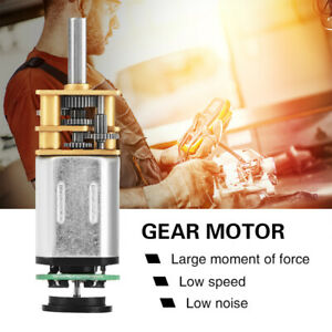 GM12BY20 Gear Motor With Magnetic Coded Disc Hall Encoder 30RPM-70RPM DC6V 2W