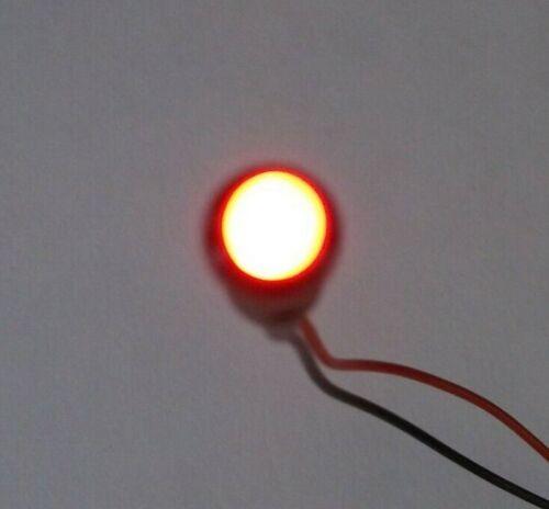 2 BBT 12 volt Red LED RV Indicator Lights in Black Bezels