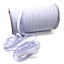 White Flat Elastic Cord 5mm 6mm 12mm For Sewing Crafts Dressmaking Tailoring