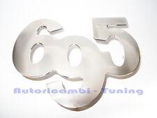 ABARTH 695 FREGIO  ACCIAIO CROMATO FIAT 500  A043  62x49mm