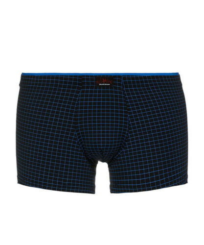 bruno banani Boxer Shorts Retroshorts Unterhose Matrix schwarz blau kariert