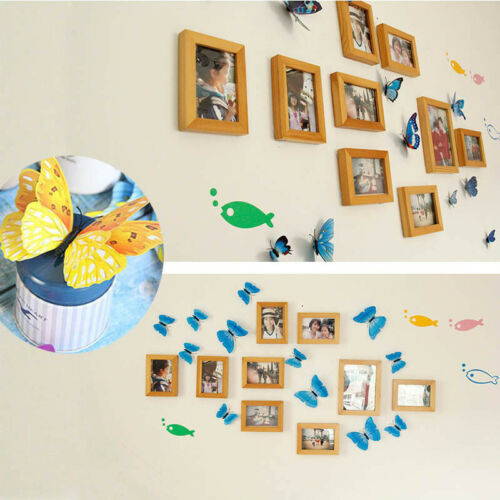 Stickers PVC DIY 3D 12Pcs Decal Wall Decor Home Butterfly Decoration Room Kid