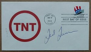 Ted Turner signed autographed 1998 TNT  First Day Cover (FDC) - COA (NM-MT auto)