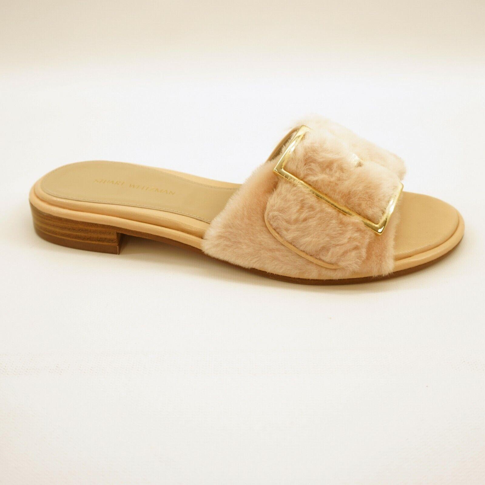 Stuart Weitzman Zapatos Zapatos Zapatos para mujer Puntera abierta fuzzywuz Diapositiva Sandalias rosado Nude 5.5  398  todos los bienes son especiales