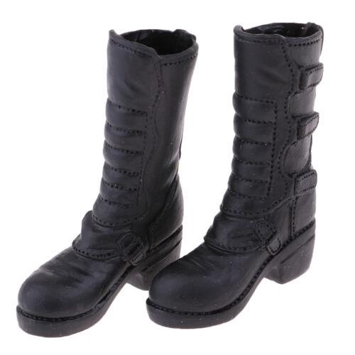 MagiDeal 1//6 Female Low Heels Stiefel Schwarz für 12 /'/' Phicen Kumik Doll