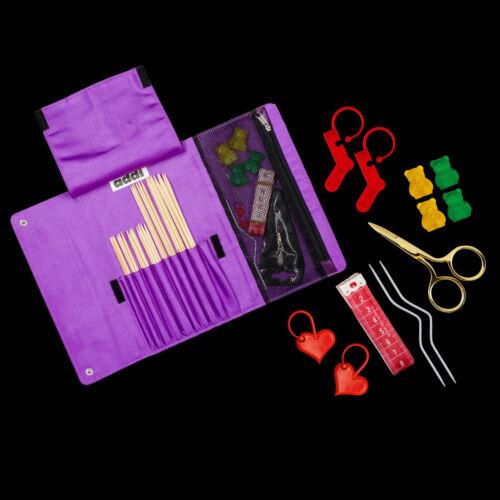 Addi-socks by Woolly Hugs étui aiguille jeu bambou accessoires 601-2