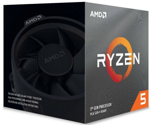 AMD Ryzen 5 3600X CPU BOX Prozessor, 6-Core, 3,8GHz, Socket AM4,100-100000022BOX