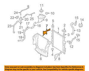 mercedes oem 06 11 ml350 3 5l v6 radiator side baffle right rh ebay com 2004 Isuzu Rodeo 3.5L Engine GM 5.3 Engine