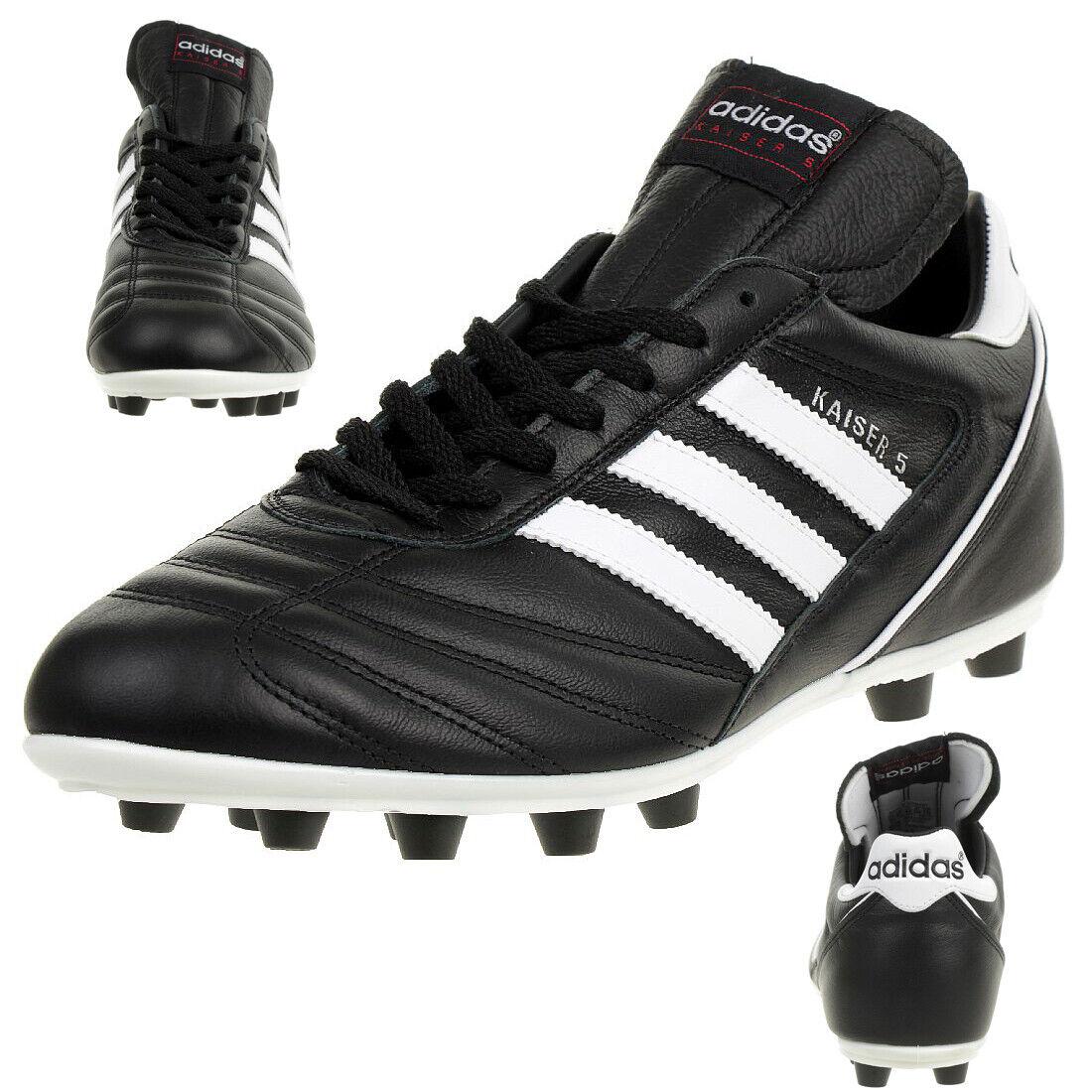 Dettagli su Scarpe da calcio uomo Adidas Kaiser 5 Liga 033201 nero bianco