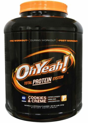 NEW OH YEAH! ISOLATE POWER COOKIES & CREME PROTEIN PRE & POST WORKOUT DAILY CARE