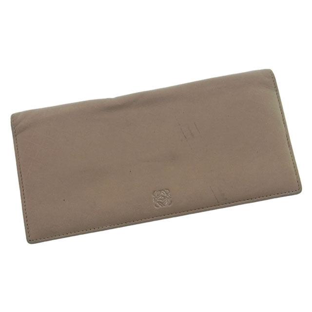 Loewe Wallet Purse Monogram Mini Agenda Brown Woman Authentic Used L287