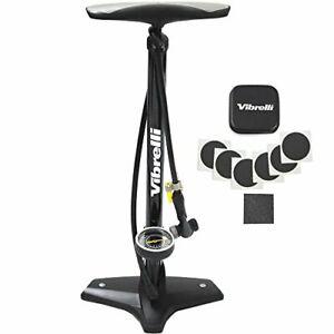 Performance Bike Floor Pump with Gauge & Glueless Puncture Kit - Rapid T-Valve -