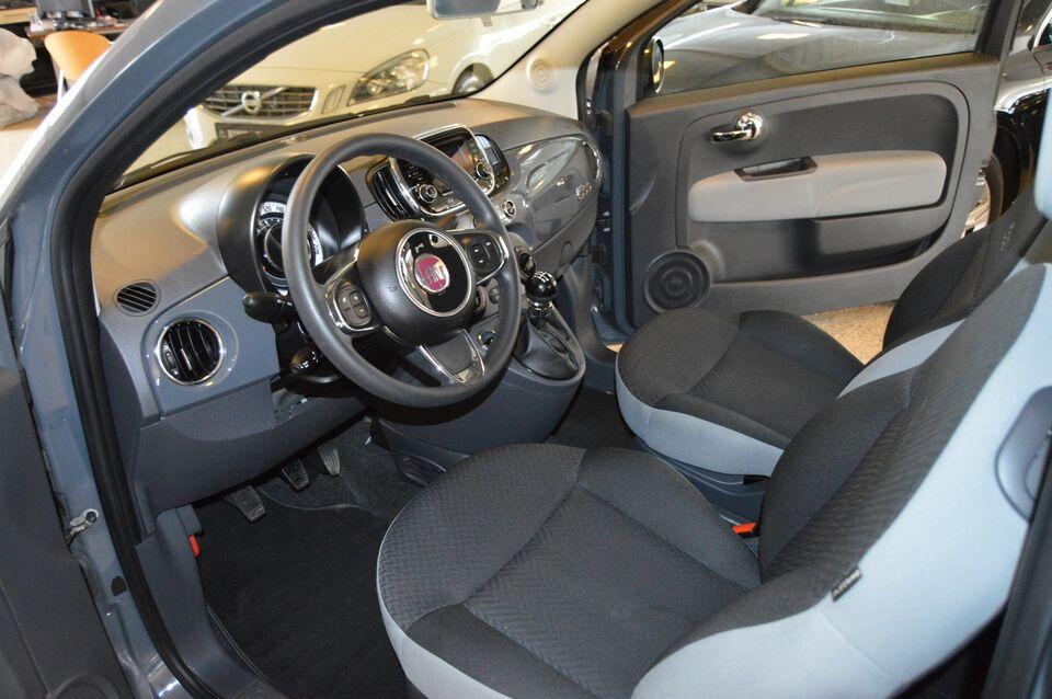 Fiat 500 0,9 TwinAir 80 Pop Benzin modelår 2017 km 66000 Grå