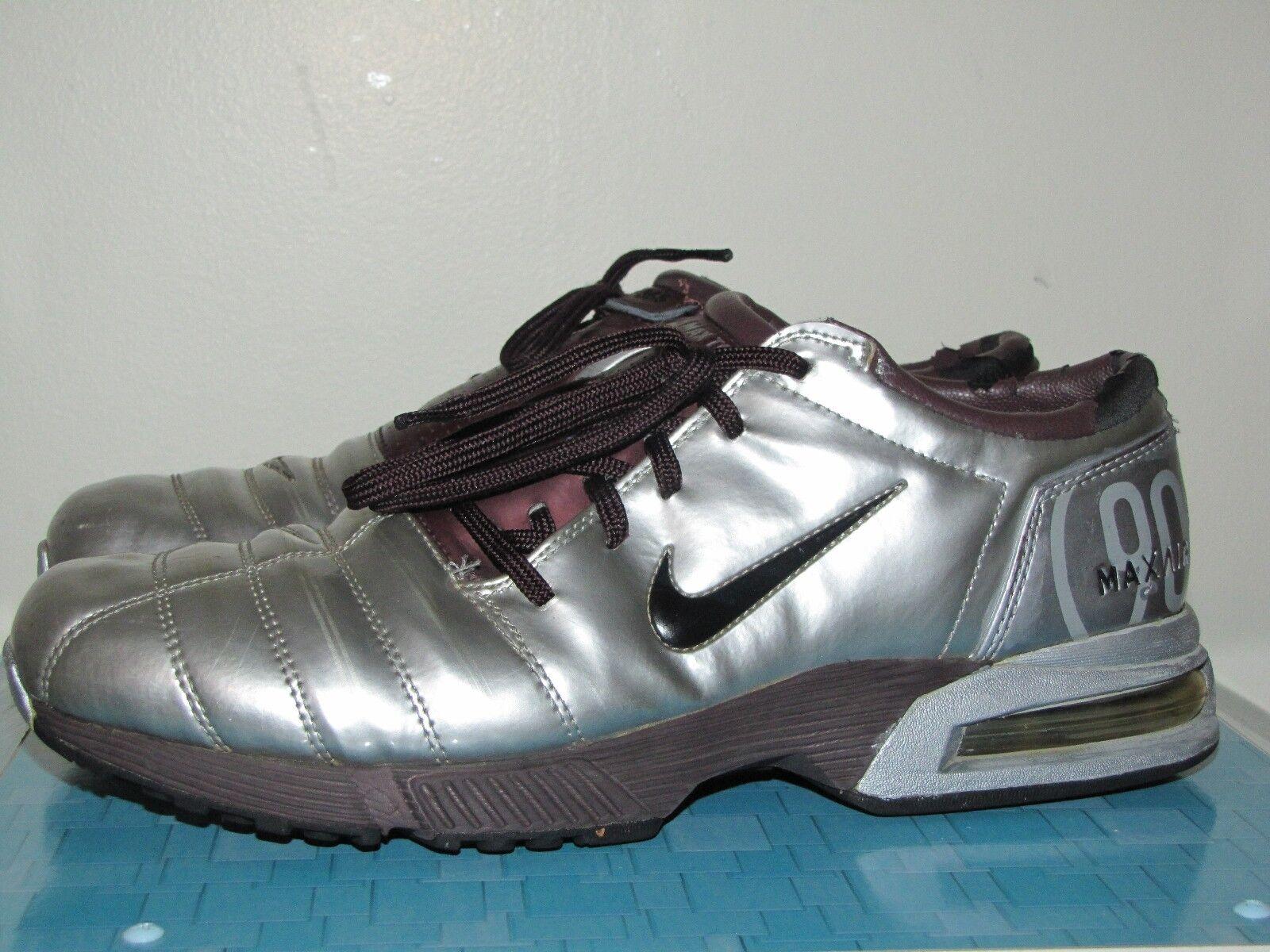 Nike Shox Max Air Zoom T90 365 Botines De Fútbol Zapatos Entrenadores De Interior EE. UU. 8 Reino Unido 7