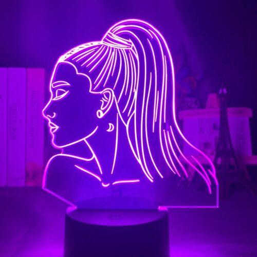 Official Led Night Light Ariana Grande Figure Nightlight 3D Lamp Bedroom Decor!!