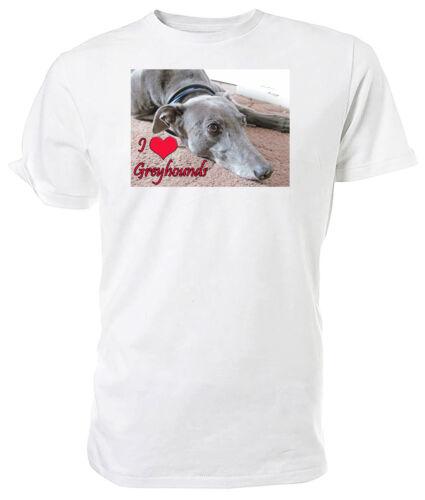 Choice of size /& colours! Greyhound Dog T shirt